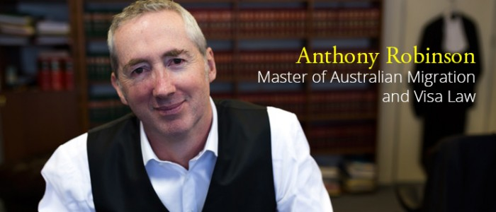 Anthony Robinson, Master of Migration Law